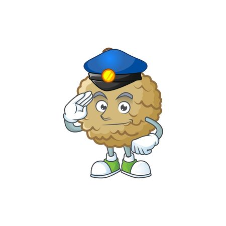 Police sweet marolo fruit for design character vector illustration
