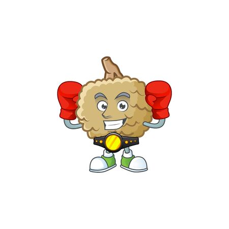 Boxing sweet marolo fruit for design character vector illustration
