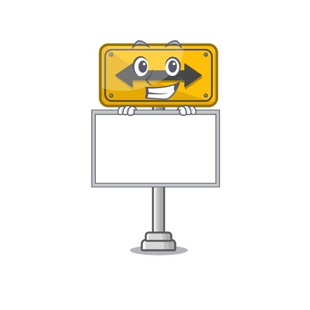 Grinning with board pass on either side isolated cartoon vector illustration
