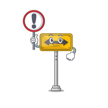 With sign pass on either side isolated cartoon vector illustration