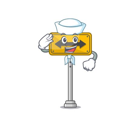 Sailor pass on either side isolated cartoon vector illustration Illustration