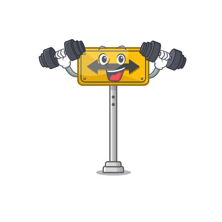 Fitness pass on either side isolated cartoon vector illustration