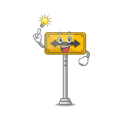 Have an idea pass on either side a mascot vector illustration Çizim