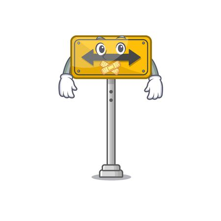 Silent pass on either side a mascot vector illustration