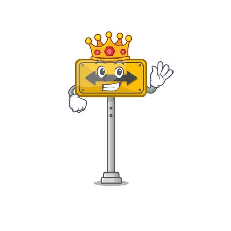 King pass on either side a mascot vector illustration