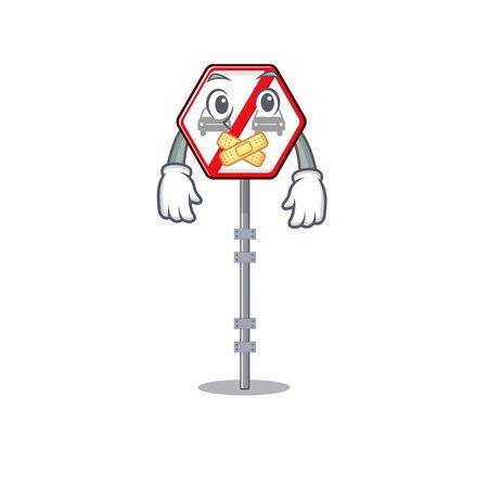 Silent no overtaking toys above cartoon table vector illustration