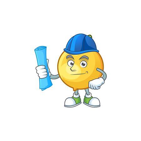Architect fresh mundu cartoon mascot for herb Stock Illustratie