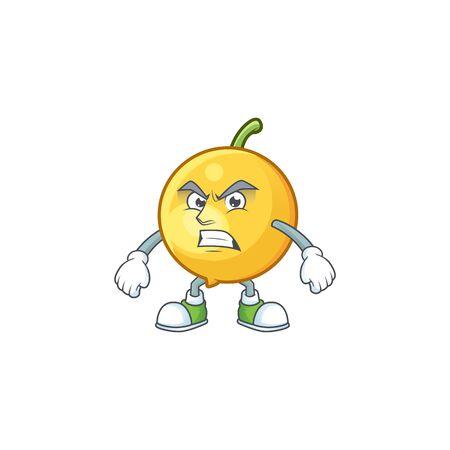Scream fresh mundu cartoon mascot for herb