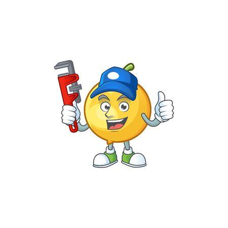 Plumber ripe mundu with character mascot style. 向量圖像