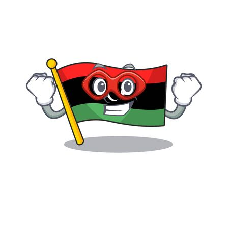 Super hero flag libya cartoon isolated the mascot vector illustration Illustration