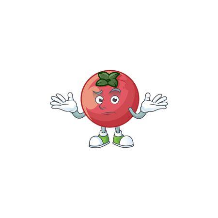 Grinsender seltener Samtapfel mit Charaktermaskottchen-Vektorillustration