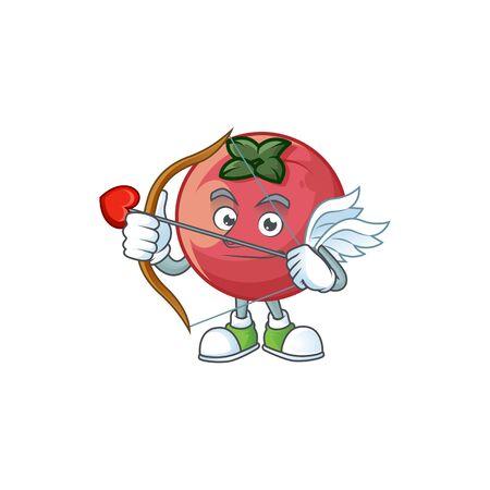 Cupid fresh velvet apple in cartoon mascot