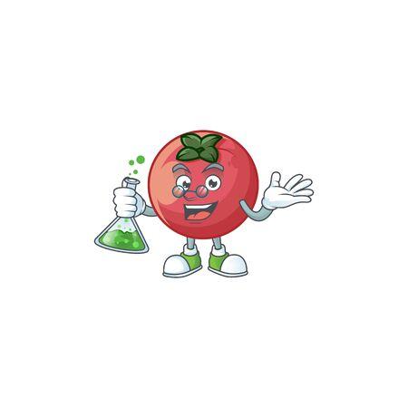 Professor rare velvet apple with character mascot