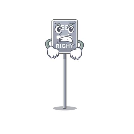Angry toy keep right shaped on cartoon vector illustration