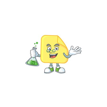 Professor yellow rounded sticker paper for business