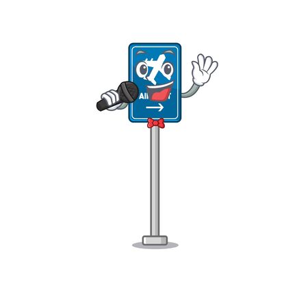 Singing airport sign in the character shape