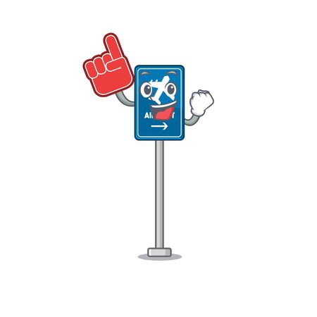 Foam finger airport sign toys in cartoon shaped