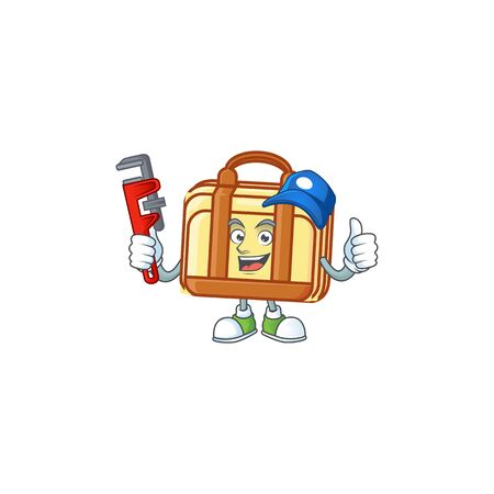 Plumber work suitcase character on white background vector illustration 向量圖像