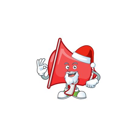 Santa red loudspeaker with cartoon mascot style