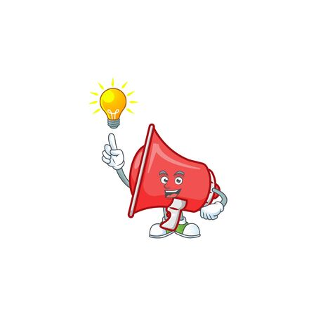 Have an idea red loudspeaker with cartoon mascot style