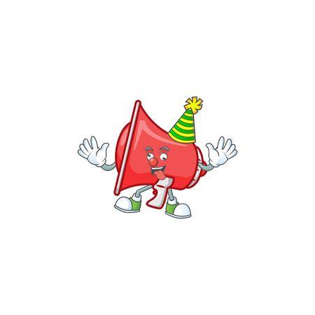 Clown red loudspeaker with cartoon mascot style Çizim