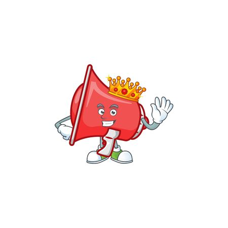 King red loudspeaker with cartoon mascot style