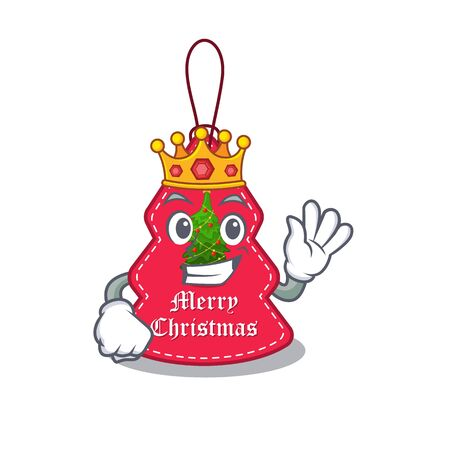 King Christmas tags hanging on cartoon walls vector illustration Banque d'images - 130671196