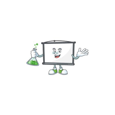 Professor empty project screen mascot for display.