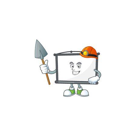 Miner empty project screen for presentation object. vector illustration Stock Illustratie