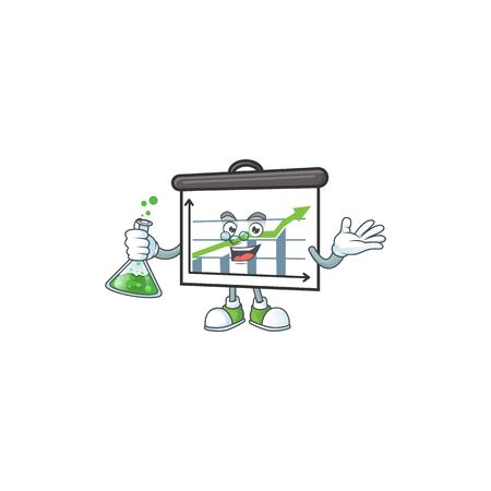 Professor up graphic board for marketing growth vector illustration