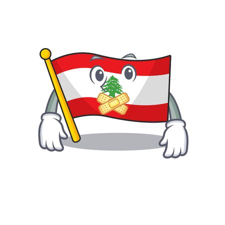 Silent flag lebanon with the character shape
