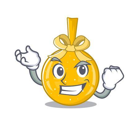 Successful christmas ball gold shape the cartoon vector illustration