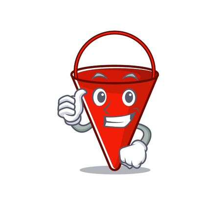 Thumbs up fire bucket isolated with the cartoon vector illustration