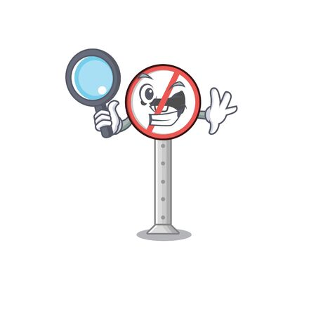 Detective no honking with the mascot shape vector illustration Illustration
