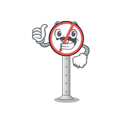 Thumbs up no honking with the mascot shape vector illustration Фото со стока - 130604867