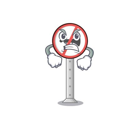 Angry no honking on the cartoon roadside vector illustration