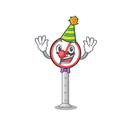 Clown miniature no honking in character chair vector illustration