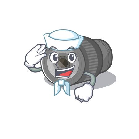 Sailor zoom lens mascot isolated with character