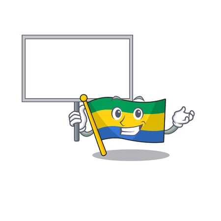 Bring board flag gabon with the cartoon shape