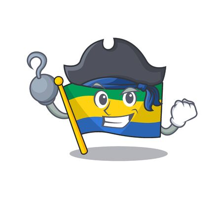 Pirate flag gabon with the cartoon shape