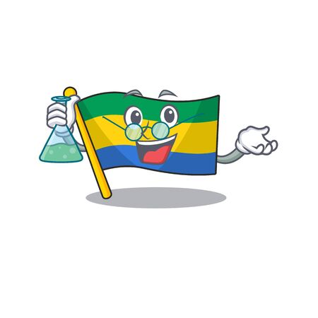 Professor flag gabon flown on mascot pole
