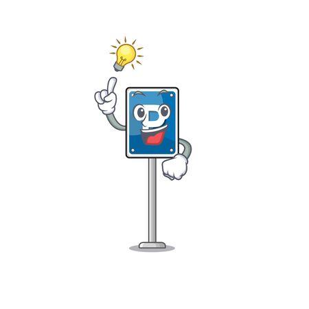 Have an idea parking sign character shape the cartoon Çizim