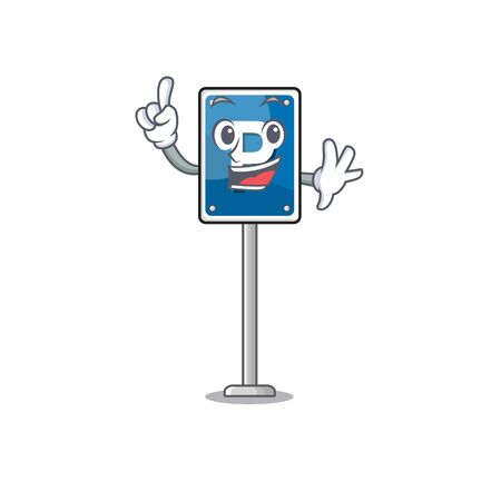 Finger parking sign character shape the cartoon