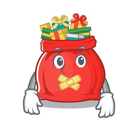Silent toy santa claus bag cartoon shape Иллюстрация