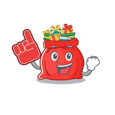 Foam finger toy santa claus bag cartoon shape