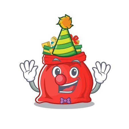 Clown toy santa claus bag cartoon shape Çizim