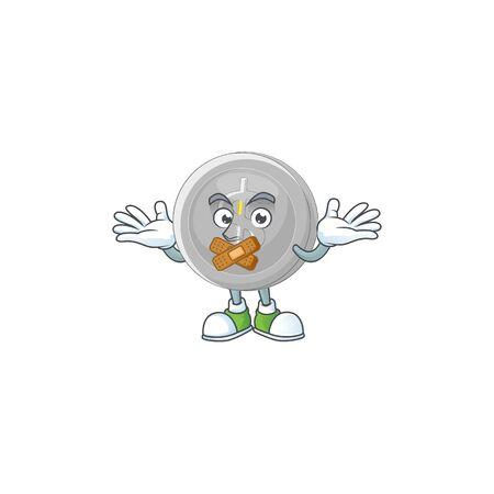 Silent silver coin cartoon character with mascot