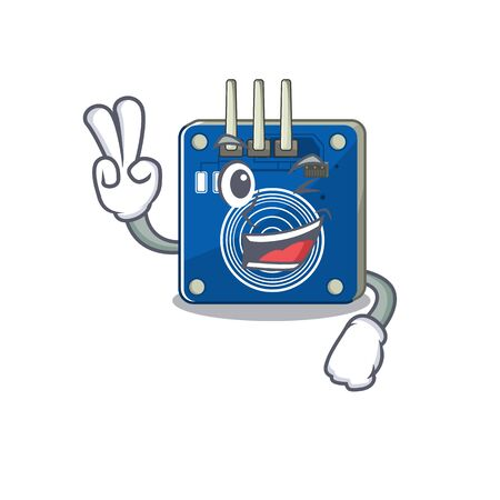 Two finger touch sensor with the cartoon shape vector illustration