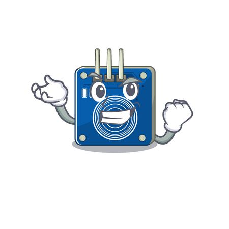 Successful touch sensor with the cartoon shape vector illustration Banco de Imagens - 130800071