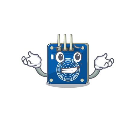 Grinning touch sensor with the cartoon shape vector illustration Banco de Imagens - 130800118
